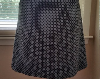 Turquoise/Brown Patterned Skirt