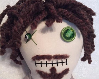 "Creepy n Cute Zombie Doll - ""Nicholas"" - Inspired by TWD (P)"