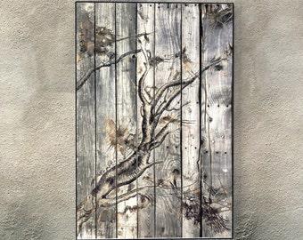 Reclaimed Wood Art A283 Large wall art