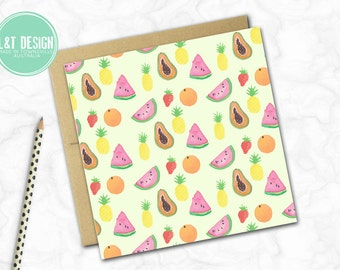 Tutti Fruitti Mini Card
