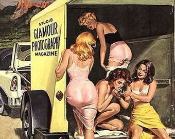 1950's Glamour Photography Magazine Cover Poster A3 / A2 Print