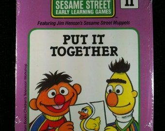 Vintage Sesame Street Early Learning Games Card Set, Sealed, Muppet Card Set, Sesame Street Ernie & Bert Card Set, Sesame Street Cards