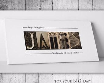 Wedding Guest Book Alternative // Unique Wedding Guestbook // Custom Wedding Guest Book // Gallery Wrapped Canvas