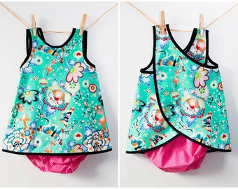 Crossed back Japanese dress set