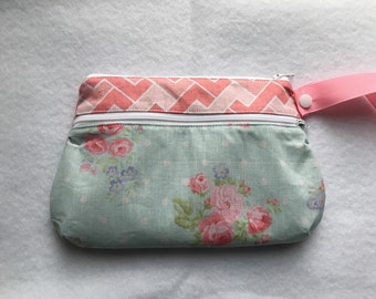 Made to Order: Mint Floral Wet/Dry Bag