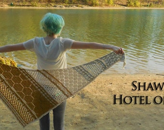 Hotel of Bees crochet shawl pattern PDF