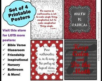 Math Posters, Math Teacher Gift, Pi Day, Back to School, Math Classroom Decor, Math Signs, Printable Posters, Gift for Math Teacher