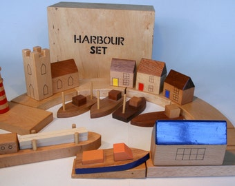 Handcrafted child's wooden Harbour Set  (ref 222B)