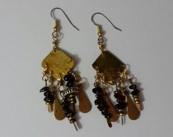 Bohemian Hammerd Brass Earrings