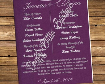 Plum Wedding Invitations (#A-D)