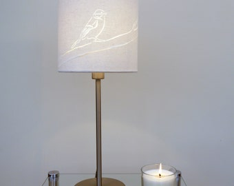 Hand Cut Bird Drum Lamp Shade 20cm