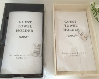 DIY Guest Towel Holder Black Or Ivory Add Guest Towels, Make A Nice Hostess  Gift