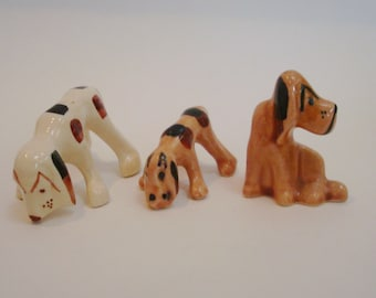 Grindley Ware Ohio Pottery THREE DOGS