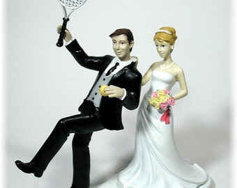 Reluctant Tennis Groom with Bride 96TE