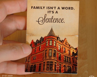The Royal Tenenbaums  Wes anderson print -  ACEO ATC Mini Print Card - Pick your Size
