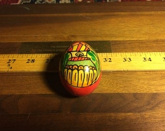 Wood Egg Painted