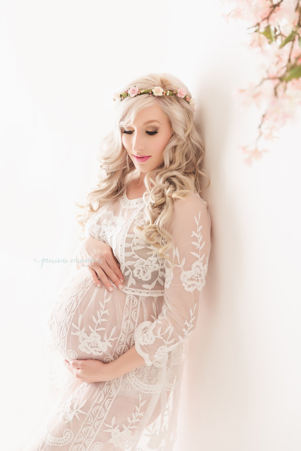rts lace maternity dress for photo shoot by. Black Bedroom Furniture Sets. Home Design Ideas
