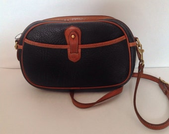 Vintage Dooney and Bourke All-Weather Leather Cross Body - Black/Brown