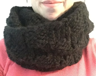 Black Checkered Infinity Scarf