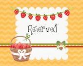 Reserved Listing for Natalie C.