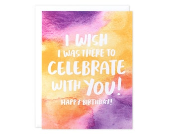 Happy Birthday, Wish I Could Be There Card, Happy Birthday Friend, BFF Birthday Card, Missing You Bday Card, Bestie Bday Card, Bday