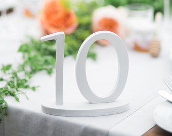 Table  number wood  - DIY, painted or glittered set . Wedding decoration wooden numbers, wedding table numbers
