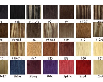 "18 "" 100% Remy Human hair weft/ 100g/"