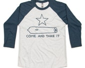 GONZALES 1835 - Indigo/Heather White Raglan
