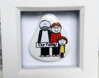 Small white frames with personalised stone for any occasion.