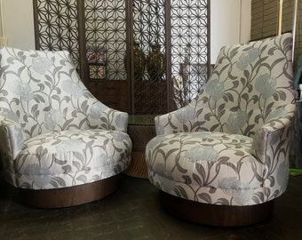 Vintage Mid Century Modern Lounge Chairs Two Available Newly Reupholstered Adrian Pearsall Style