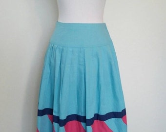 Vintage cotton skirt Tracy Saywell high waist 1950's