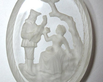 Vintage Couple's Cameo, 2 backings