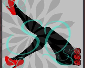 Legs SVG High Heels Shoes Diva Woman Girl Lamp Birthday Rose Flower Flourish Swirl Name Canvas Sign Glass Shirt Mom Life Cricut Decal 2018.