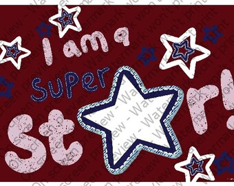 I am a Star - Edible Cake and Cupcake Topper For Birthday's and Parties! - D1249