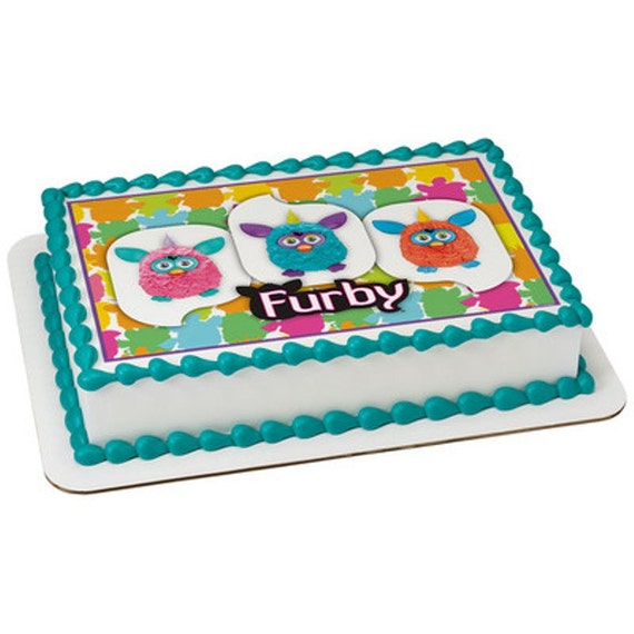 Furby Licensed Birthday Edible Cake and Cupcake by ...