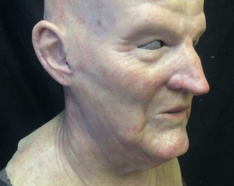 Basic Al- Old Man Mask- great disguise and made to order- bald no eyebrows