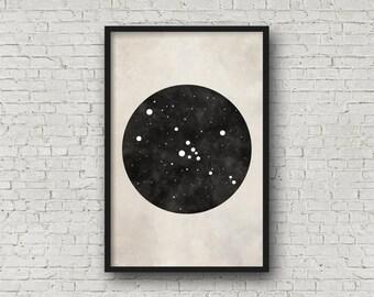 Taurus Constellation Art, Art Print Poster, Wall Art, Taurus Art, Zodiac Constellation, Zodiac Sign, Zodiac Art, Zodiac Print