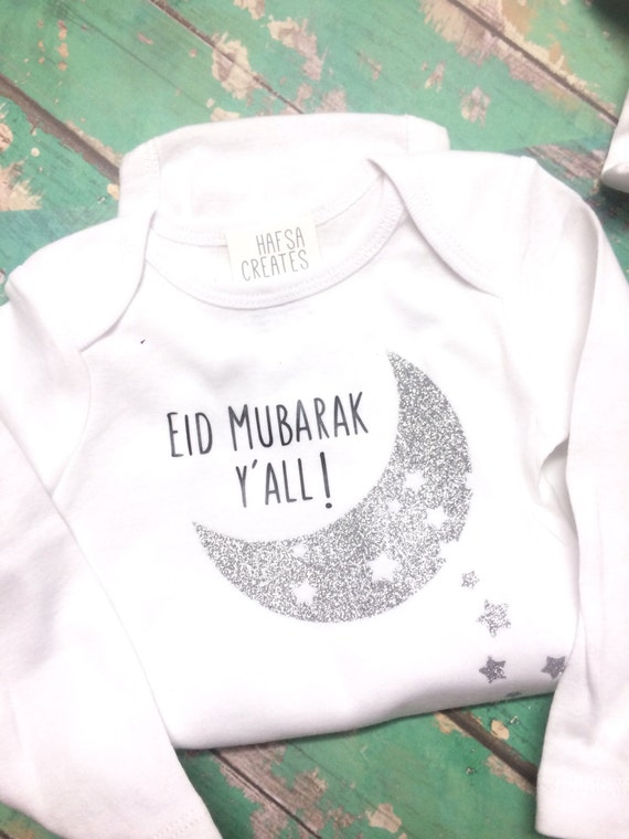 Baby Gifts For Muslim : Items similar to eid mubarak y all for baby wear
