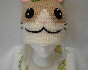 Cute hamster earflap hat