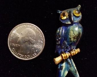 Brooch owl brooch owl pin enameled owl