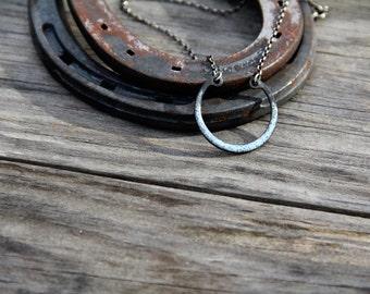 Enameled Recycled Retaining Ring Necklaces (MEDIUM)