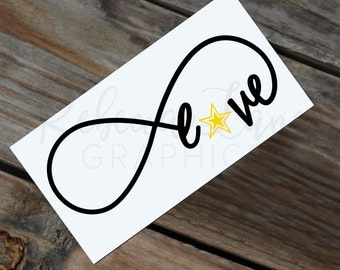 Love Infinity Army decal