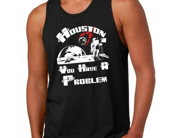 Houston Tank Top Funny Space Astronaut Tank Top