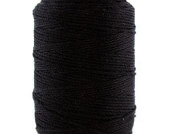 Silk Thread 1/2oz Spool Black Size FFF (CD7020)
