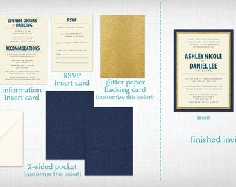 Wedding Invitations: Ashley + Daniel