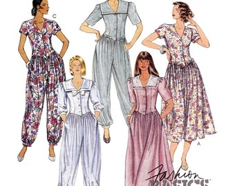 McCall's Sewing Pattern 5210 Misses' Dress, Jumpsuit in two lengths  Size:  a  6-8-10  Used
