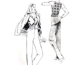 Stretch & Sew Sewing Pattern 708 Classic Pants  size:  30-46  Uncut