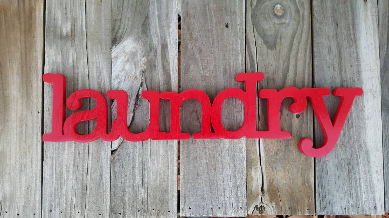 Wooden Laundry Sign Wall Hanginglaundry Room Decor Home