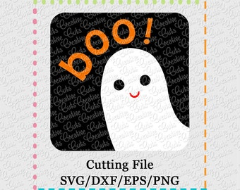 SVG EPS DXF boo ghost svg, ghost svg, cool ghost svg, cool ghoul svg, ghoul svg, halloween svg, creativeapplique, ghost box svg, boo svg