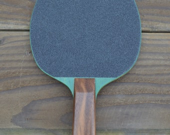 Hand Made Vintage Ping Pong Paddles (Green/Walnut)